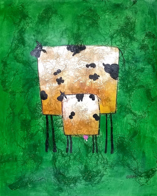 coconut 2 cows green background 1