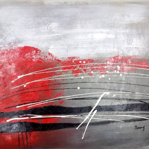 Abstract red and white stripes